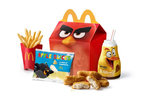 Marketing packaging McDonalds Angry Birds