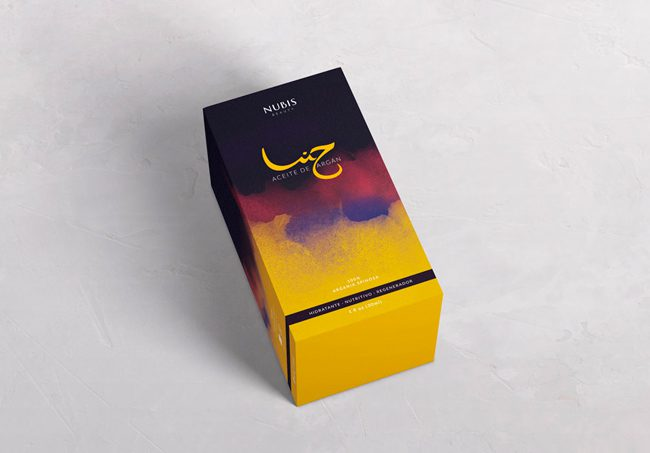 Diseño de packaging de Aceite Argan